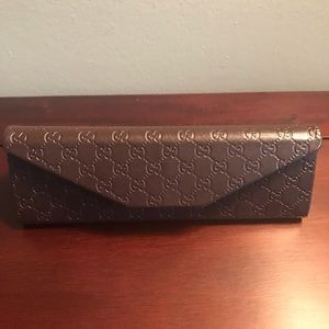 Gucci Sunglassses Foldable Brown Storage Cash